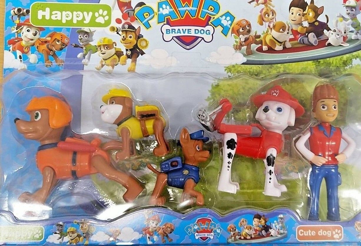 Paw Patrol 12cm Action Figures Pack Rescue Team Pack of 5 Fi