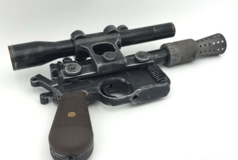 Han Solo blaster kit- With Instructions - 3D Printed