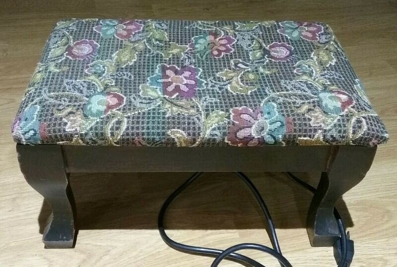 Vintage ... Electric Heated Foot Stool ... WORKS!!