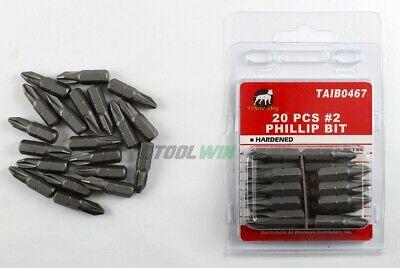 20pc Phillips #2 Screw Driver Bit Tip 1