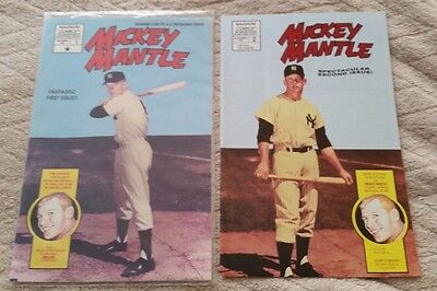 Magnum Comics MICKEY MANTLE Comic Book #'s 1 (FACTORY SEALED) and Book 2 1991/92