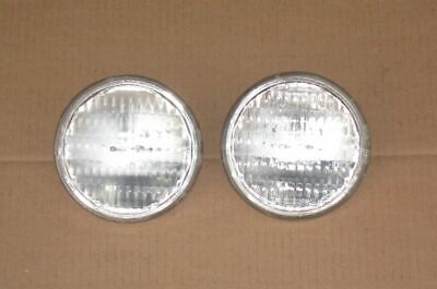 2 Sealed Beam Tractor Headlights Auto Bulb Lights 35w 12v 4.5 Replaces Ge 4411