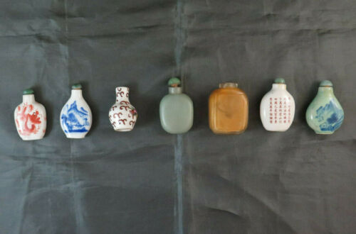 7 Snuff Bottle Chinese Bottle For Perfume Ancient Ceramics Asia BM32