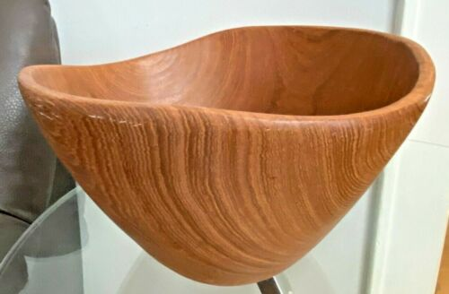 wood large bowl handcrafted