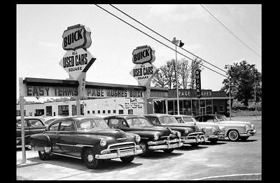 1950s Buick Car Dealer PHOTO Used Cars Lot Chevy GM General Motors