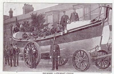 Grimsby Lifeboat Crew pc  used about 1905 Ref A273