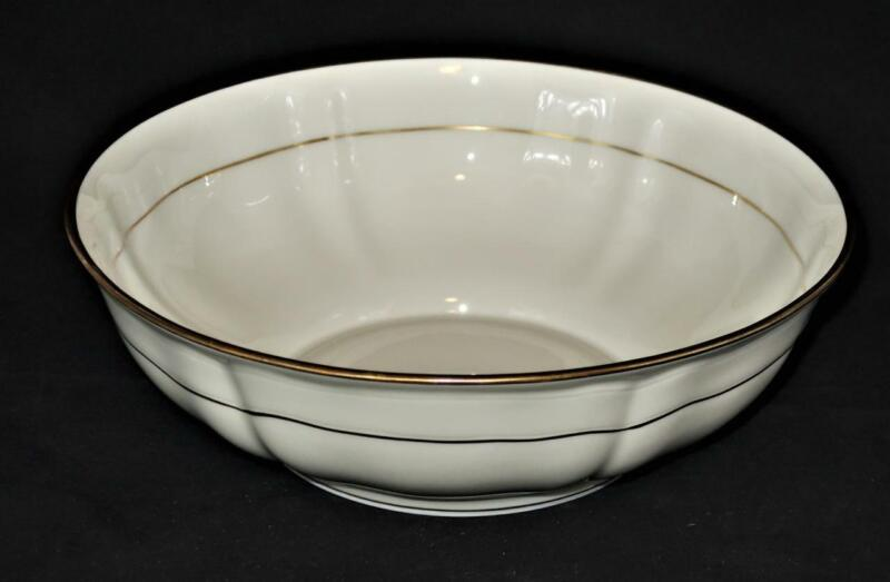 "Bernardaud Limoges LOUIS XV, Green & Gold Backstamp, Large Salad Bowl, 10 1/8"""