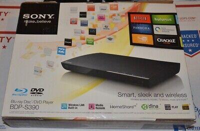 Sony BDP-S390 blu ray disc dvd player wireless blue open box media streaming