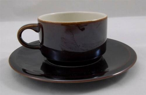 Villeroy+%26+and+Boch+BROWN+espresso+cup+and+saucer+NEW
