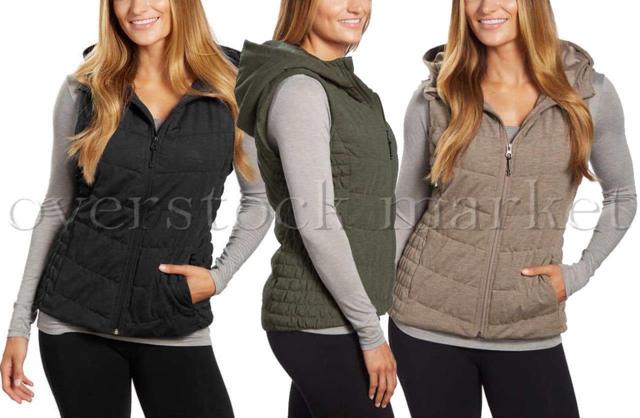 NEW WOMENS BE BY BLANC NOIR HOODED VEST