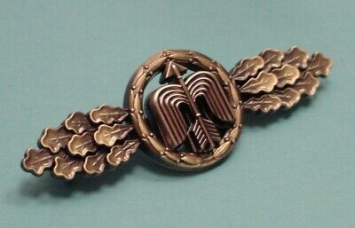 LUFTWAFFE FLYING CLASP – DAY FIGHTER - SHORT RANGE - BRONZE - GFR PATTERN