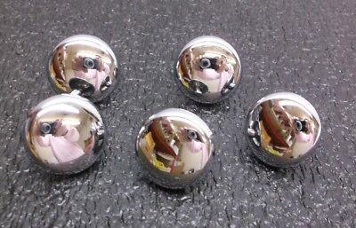 1XNT3 Cabinet Knob, Convex, Chrome, PK 5 (R)