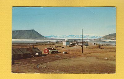 GREENLAND, View of Dundas Mountain with Village at foot used 1972 APO panorama