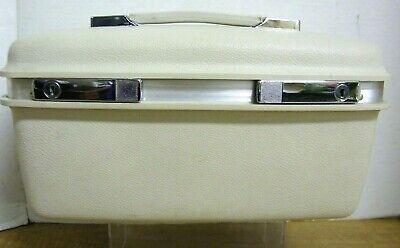 Vintage 1960s Samsonite Silhouette Train Case White Makeup Cosmetic