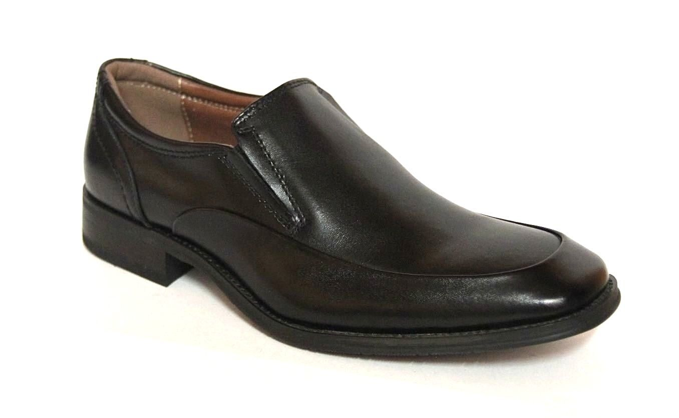 NXT MEN'S SLIP ON BLACK LEATHER DRESS LOAFER SHOES  N21036