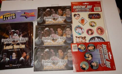 Backstreet Boys Memorabilia Lot Pins Stickers Photocards Album