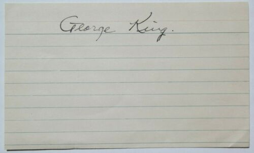 George King Aviation Pioneer, Bush Pilot, Arctic Explorer Autograph Signed Card