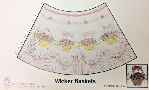 MOLLIE JANE TAYLOR SMOCKING PLATE-WICKER BASKETS