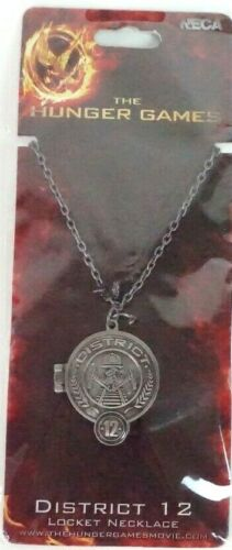 NECA The Hunger Games District 12 Locket Necklace Long Chain Collect Accessory