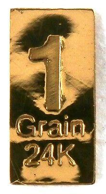 1/15 GRAM =1Gn 24K PURE GOLD .999 FINE BENCHMARK STRATEGIC METALS& CERT B6bd