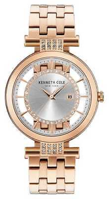(Kenneth Cole Women's Rose Gold Transparent Dial Chelsea Wrist Watch KC15005004)