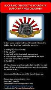 Sydney rock band needs a new Drummer Balmain Leichhardt Area Preview