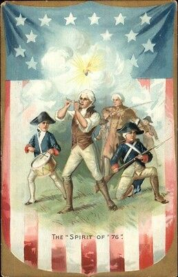 TUCK 4th of July Independence Day Spiriti of 76 c1910 Postcard