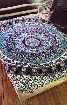 Indian Elephant Mandala Tapestry Queen Wall Hanging ...