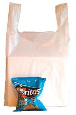 100 LARGE WHITE VEST CARRIER BAGS 11