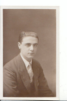 Ancestor Postcard - Portrait Photo of a Smartly Dressed Young Man - Ref 4962A