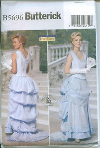 BUTTERICK-5696-Victorian-Edwardian-Steampunk-Top-Skirt-Costume-Sewing-Pattern