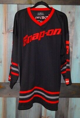 SNAP ON Tools Red Black Embroidered Hockey Jersey XL National Premium