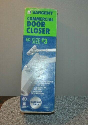 Sargent Commercial Door Closer B82 B82302H Size #3 ALUMINUM New/Sealed