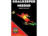 U16 goalkeeper needed