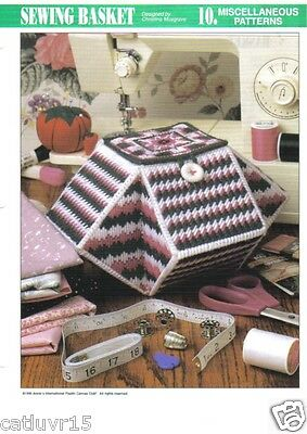 - Sewing Basket  ~ plastic canvas pattern ~ great Mother's Day gift to make