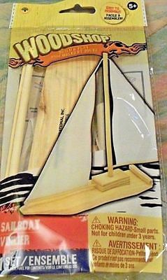 Sail Boat DIY Craft Kit for boys and girls ages 5+ Wood Shop new in pack