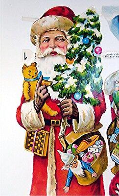 Two Vintage Die Cut  and  Embossed Santa Clauses  Germany