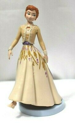 Disney PRINCESS ANNA FIGURINE Cake TOPPER Toy FROZEN 2 Beige Dress NEW