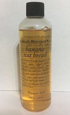 Body Recipes Banana Nut Bread Shower Gel 8 Fl Oz   240 Ml