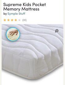 Supreme kids pocket memory small single mattress