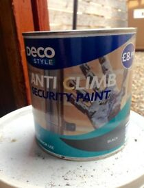 Anti climb paint, 3 tins
