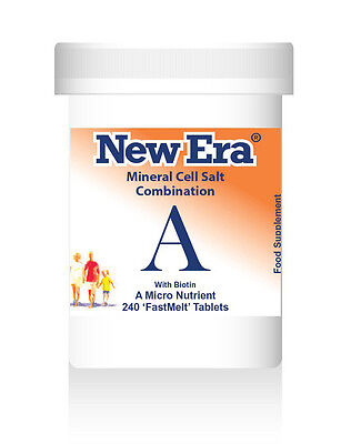 New Era Combination A Mineral Cell Salt  SCIATICA, NEURALGIA 240 Tablets