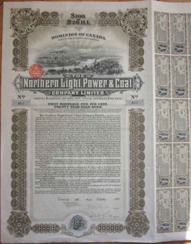 1909 Bond Certificate: