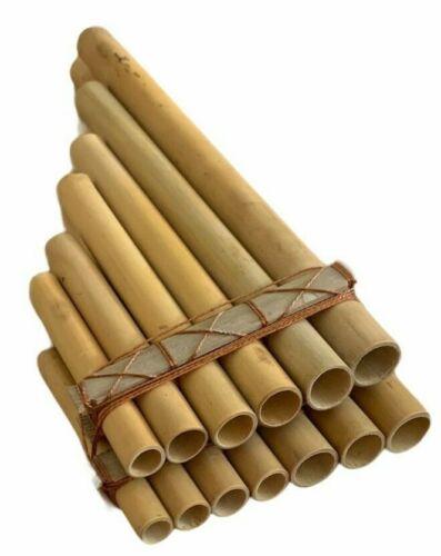 Handmade Cane Bamboo Pan Flute Zampona Panpipe Wood Woodwind Musical Instrument