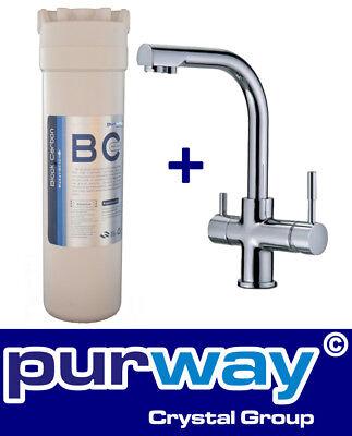 Delta 10 Block (PUR SMART BC Set 10mcr Aktivkohleblock Chlor und 3-Wege Wasserhahn DELTA)