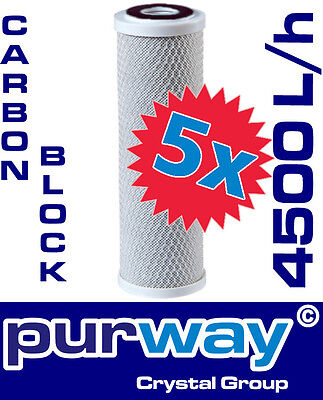 5 x PCB 10mcr Carbon Block Aktivkohleblock Aktivkohle Wasserfilter Kalk Osmose