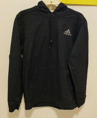 Adidas Climawarm Hoodie Hooded Sweater Black Gray Mens M