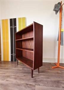 1960's Retro Danish Bookshelf, Vintage Teak Slim Display Bookcase Hurlstone Park Canterbury Area Preview