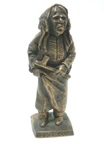 """Red Cloud"" 1981  Tom Knapp Bronze Figure Statue 4.5"""