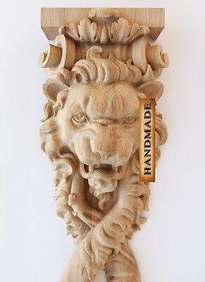 "34.2"" Lion Link Decorative Wood Natty Carved Furniture Hand Carving Decor"